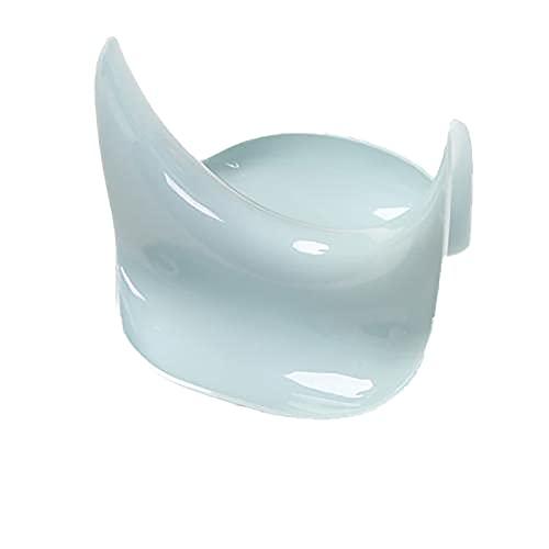 Soporte de cuchara con soporte para tapa de olla, multifuncional con almohadilla de goteo, color azul