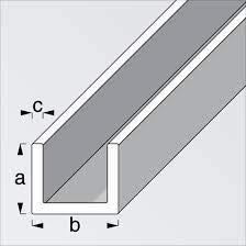 ArcanSAS - Perfil U blanco PVC mm 10 x 12 x 10...