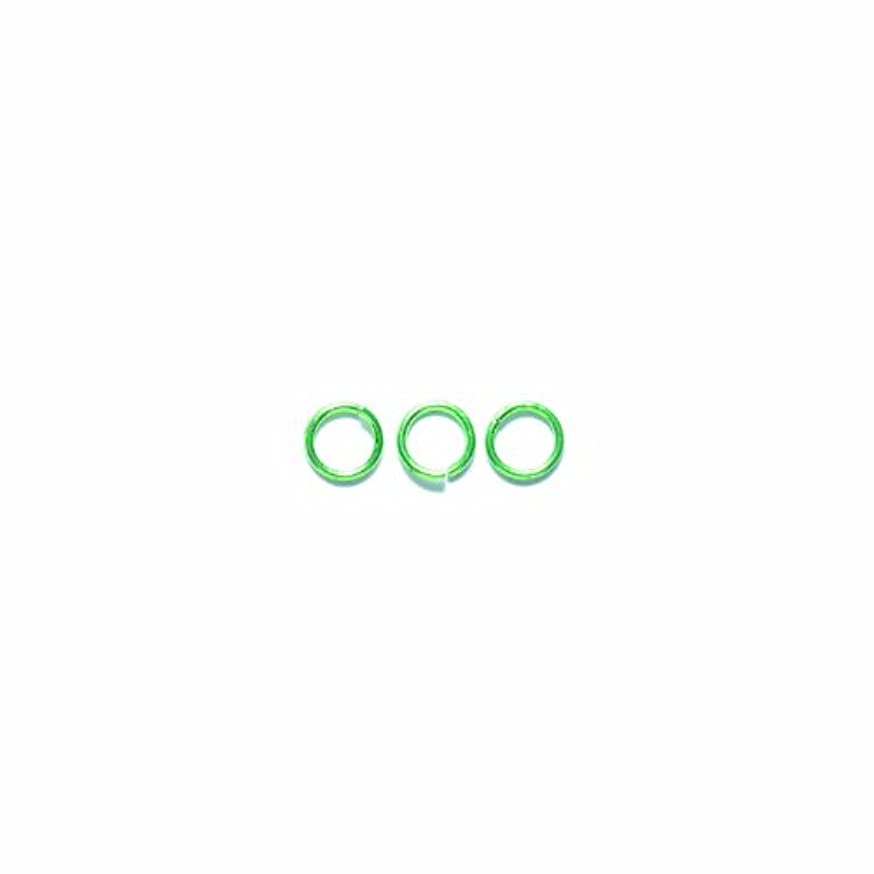 Shipwreck Beads Electroplated Brass Jump Ring, 6 mm, 19-Gauge, Metallic, Lime Green, 50 gm Pack