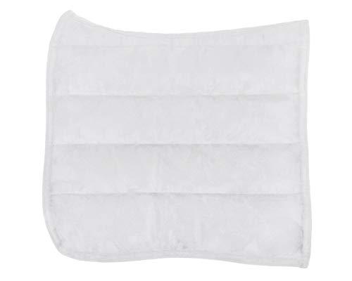 QHP Dressur Pad Puff Pad Sattel Pad Anatomic (Weiß)