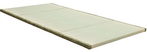 MustMat Tatami Mat Japanese Futon Mattress Traditional Japanese Tatami Bed Rush Grass Folds Easily 35.4