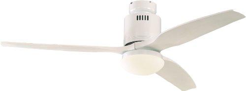 Casafan plafondventilator Aerodynamix wit, 132 cm vleugels, wit geïntegreerde lamp - energiebesparend - modern design 93132322