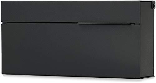 Modern Mailbox, Black Powder Coated, Wall-Mount Mailbox Vsons Design Louis B…