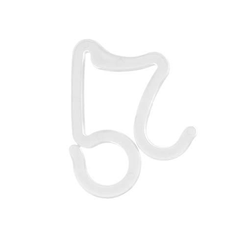 MasteriOne 10/50/100 Stücke Weihnachten Mini Gutter Hang Hooks Kunststoff S Sharped Licht Clip Weihnacht Licht Clips Draußen Hang Haken für Dachrinnen Schindel Lichter Ketten, weiß