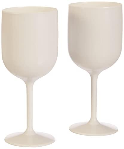 Mojito Design Calice Bicchieri, Plastica, Bianco, 2 Pezzi