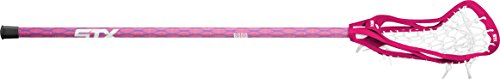 STX Lacrosse Women's Crux 100 Complete Stick with Head, Handle & Strung, Pink