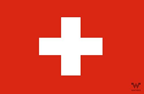 WHATABUS Schweiz Flagge Aufkleber - Länderflagge als Sticker 8,5 x 5,5 cm