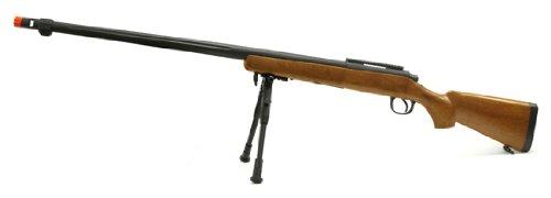 spring mb07a bolt action sniper rifle fps-600 bipod airsoft gun wood(Airsoft Gun)