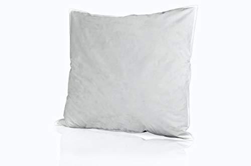 RIBECO Federkissen, Hülle: 100{fb22c8ca620091f58785940e0f564625dd0fae0269afc68e9b90255dd90cc76c} Baumwolle, weiß, 80x80 cm