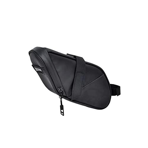 HJSW Bike Saddle Bag Waterproof Bike Bag Under Seat Bicycle Storage Pouch Wedge Pack Rainproof Cycling Professional Accessories for Mountain Road MTB Bike, Black