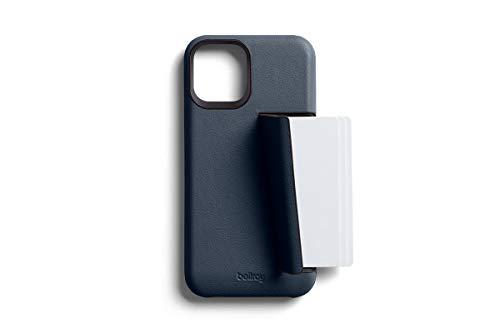 Bellroy Phone Case for iPhone 12 Mini - Funda para iPhone 12 Mini (con tarjetero, forro de microfibra suave), color basalto