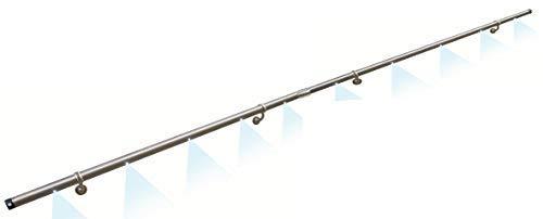 PiccoRail LED Edelstahl Handlaufset L=3m mit 2 Bewegungsmeldern - L12