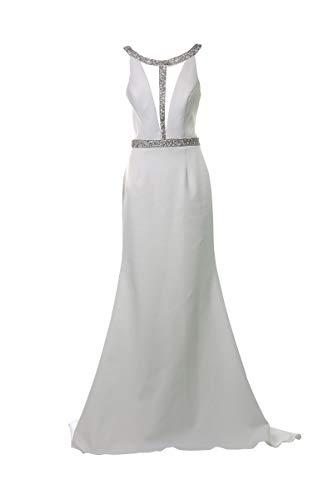 Sherri Hill Langes Kleid Elfenbein 34
