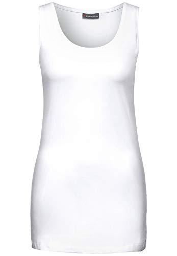 Street One Damen Top mit Baumwolle White 40