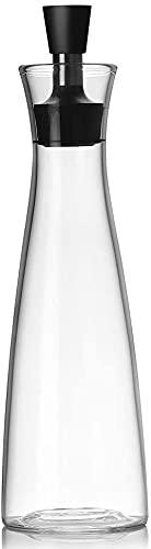 Cakunmik Muchas Botellas de Vidrio para Aceite de Oliva con Pico Anti-explosión: para Aceite de alimentación, Salsa de Soja, vinagre, Otros líquidos (500 ml)