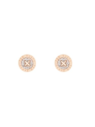 Ted Baker Eisley Button Stud Earrings, Rose Gold/Silver