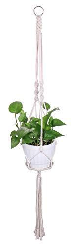 Luxbon Makramee Blumenampel Baumwollseil Pflanzenaufhänger Blumentopf Halter für Decken Balkone Boehmische Wanddekoration 40\'\' (101 cm)