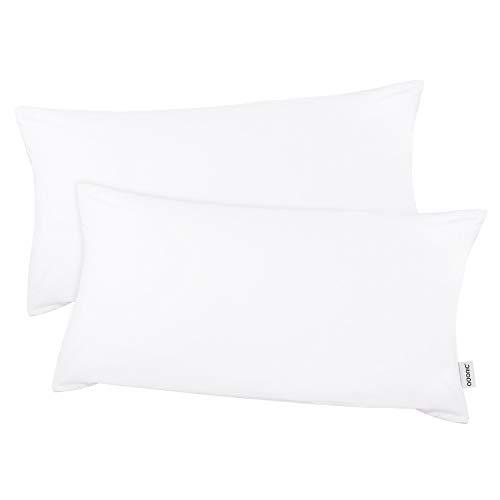 Kissenbezug kissenhülle Kopfkissenbezug Bettkissenbezug Pillowcase, Adoric Life [2er Set] Kissenbezug 100% Mikrofaser, 40 cm x80 cm.(Weiß)