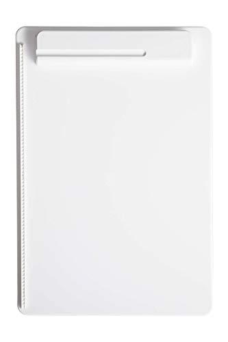 Schreibplatte Maulgo Uni, Klemmbrett, DIN A4 hoch, Papieranschlag, Kunststoff, 8 mm Klemmweite, Weiß