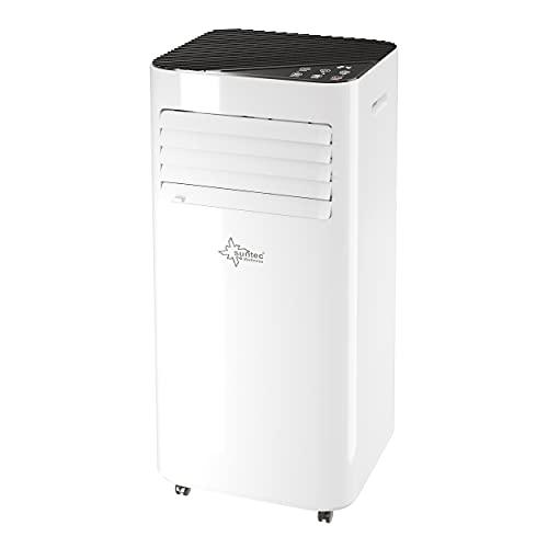 SUNTEC Mobiles lokales Klimagerät Comfort 7.0 Eco R290 | Klimaanlage für Räume bis 25 qm | Abluftschlauch | Kühler und Entfeuchter mit ökologischem Kühlmittel | 7.000 BTU/h | Für Wohnung und Büro