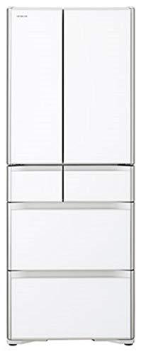 日立 冷蔵庫 505L 6ドア フレンチドア 日本製 R-XG51J XW 幅68.5cm 奥行69.9cm スポット冷蔵 真空チルド 新鮮スリープ野菜室 クリスタルホワイト