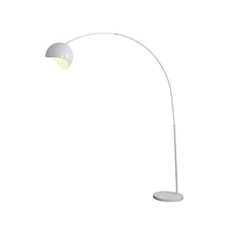 ZZL Lamparas de Pie Lámpara de pie de Arco Lámpara de pie Moderna con Interruptor de pie, lámpara de pie for la Sala de Estar de la Sala de Estar de la Oficina. Dormitorio (Color : White)