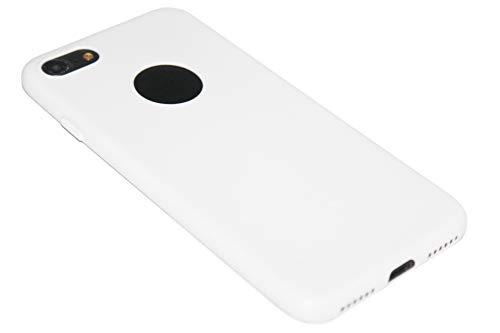 ADEL Custodia morbida in silicone e TPU, compatibile con iPhone 8 Plus/7 Plus, WeiB