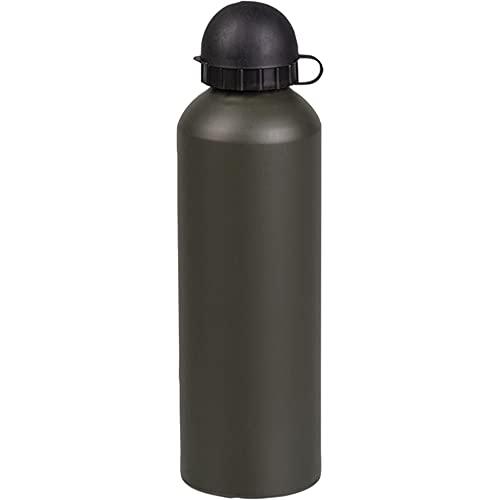 Botella de agua de Aluminio 750ml Cantimplora de aluminio 750 ml Boca estrecha Color OD Verde militar | Camping, senderismo, pesca, caza, supervivencia