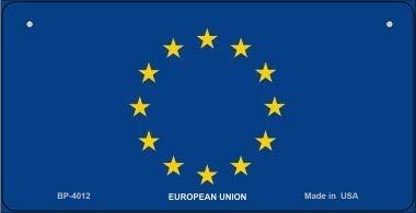 Koopje Wereld Europese Unie Vlag Nieuwigheid Fiets Plaat (Met Sticky Notes)