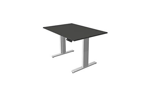 Froschkönig24 Move 3 - Escritorio eléctrico regulable en altura, mesa de oficina, mesa motorizada, color antracita, tamaño del tablero: 120 x 80 cm