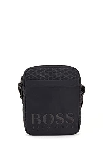 BOSS Herren Hegon NS zip Reporter-Tasche aus recyceltem Nylon mit geometrischem Print Größe One Size