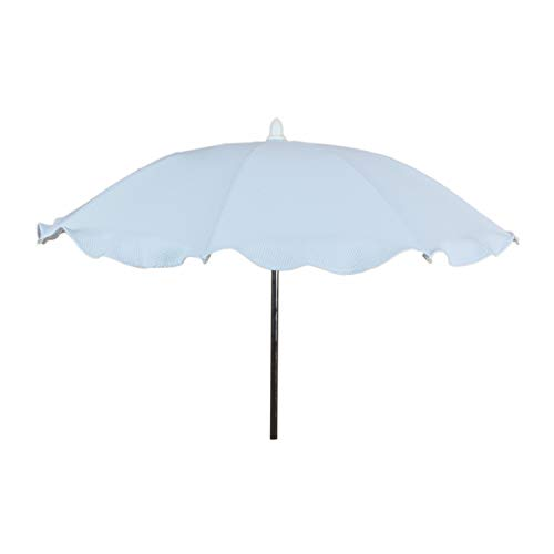Sombrilla Universal para silla o cochecito de Paseo Rosy Fuentes - No incluye Flexo para su fijación - elegante y práctico artículo para la protección del sol de su bebé0-celeste