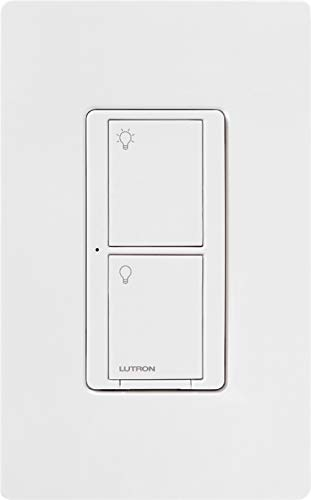 Lutron Caseta Smart Home 6A Switch, Works with Alexa, Apple HomeKit, and Google Assistant | for Ceiling Fans, Exhaust Fans, LED Light Bulbs, Incandescent Bulbs and Halogen Bulbs | PD-6ANS-WH | White