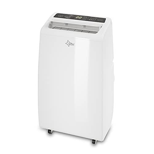 Suntec Climatiseur Portable Advance 12 Eco R290 - Climatiseur Mobile, Déshumidificateur, Ventilateur, 12000BTU/h, 3,5KW, Pour max~60 M², Minuterie Programmable, Télécommande | Tuyau d'évacuation