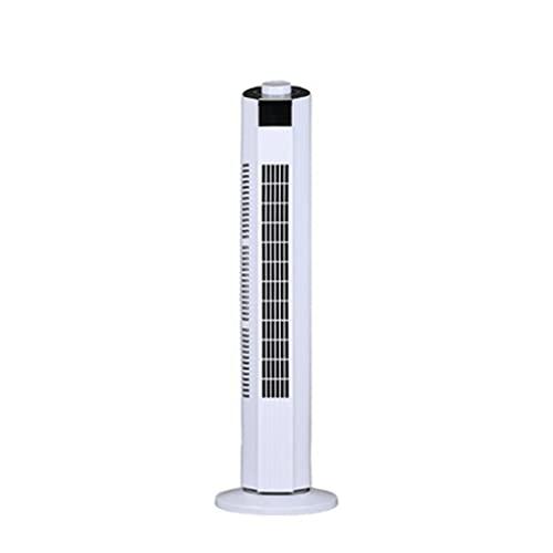 YYDS Ventilador de la Torre con Pantalla LED Alta remota 38'Atracenos de pie Tranquilo oscilante de enfriamiento en casa de Toda la casa de la casa. (Color : White)