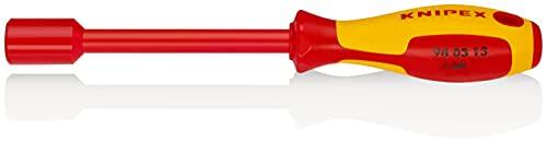 KNIPEX Llave de vaso con mango destornillador aislado 1000V (237 mm) 98 03 13