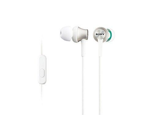 Sony MDR-EX450AP - Mobile Headsets (Verkabelt, im Ohr, Binaural, Im Ohr, 5-25000 Hz), Weiß