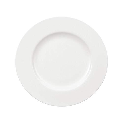 Villeroy & Boch - Assiette Royal, Assiette Ronde en Porcelaine Bone Premium de Grande Qualité, Blanche, Compatible Lave-Vaisselle, 27 cm