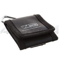 Adorama MEM-3C, Tri-fold 3 Card Memory Card Wallet with Metal Carabiner Clip & Belt Loop