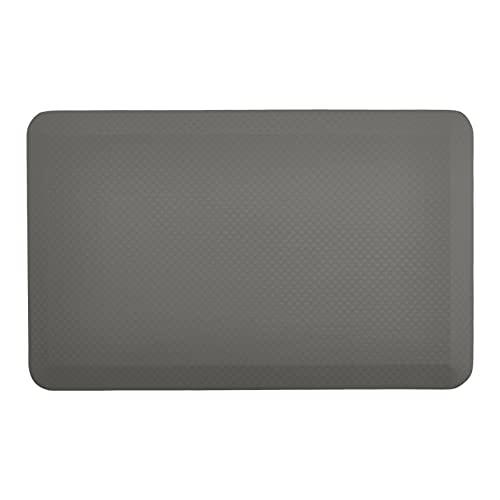 Amazon Commercial Tapis confortable et ergonomique anti-fatigue, 1,9cm d'épaisseur, 50,8x 81,2 cm - Gris