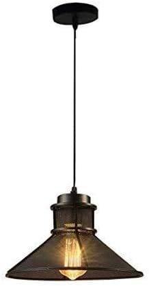 HTL Black Industry Style Techo Colgante Luz Lámpara Colgante Hierro Lámpara Redonda Altura Ajustable Retro Archilla de Araña Lámpara de Araña para la Cocina Isla Comedor Sala de Estar Bar Loft Ilumin