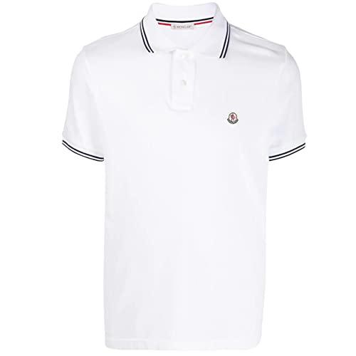 Moncler Herren Poloshirt - 610918A7 - Weiß Gr. S, weiß