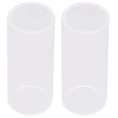 Exceart 2 Stks Gitaar Duim en Vinger Plectrums Glas Gitaar Slide Vinger Beschermers Plectrums Gitaar Accessoires (7 Cm)
