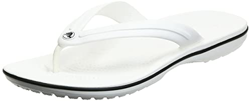 Crocs Crocband Flip Unisex Adulta Chancleta, Blanco (White 100), 38/39 EU