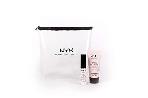 NYX Professional Makeup, Set Viso Primer Illuminante + Balsamo Labbra Idratante Bare With Me Hemp, Arricchiti con Olio Di Semi di Canapa Sativa