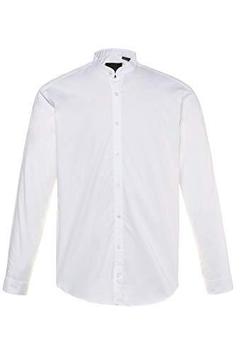 JP 1880 Homme Grandes Tailles Chemise Droite col Mao, Manches Longues Blanc XL 718156 20-XL