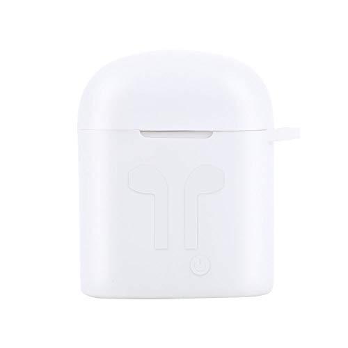 JUNKAI Headphone Case White Silicone TWS Headphone Case Set for I7S