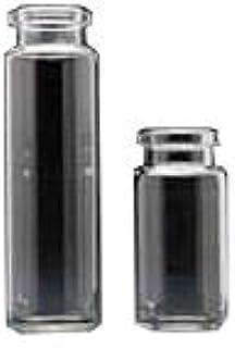 J.G. Finneran 322AXLN-2375 Clear Borosilicate Glass Beveled Bottom Headspace Vial with Long Neck, 23 mm Diameter x 75 mm Length, 20 mm Flat Top Crimp, 20 mL Capacity (Pack of 1000)