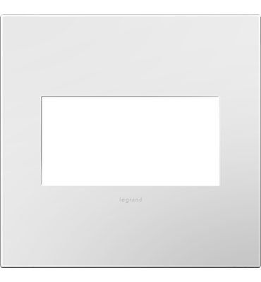 Legrand adorne 2-Gang Wall Plate/Outlet Cover in Gloss White-on-White Finish, AWP2GWHW10, 4-Pack