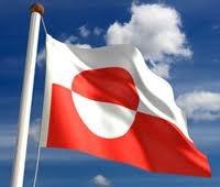 5ft x 3ft Grönland grönländisch Material Flagge